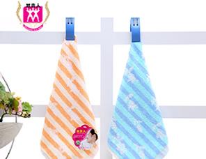 纯棉提花儿童小方巾幼儿园专用宝宝口水巾