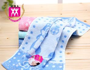 纯棉儿童毛巾定制宝宝可爱洗脸面巾幼儿园