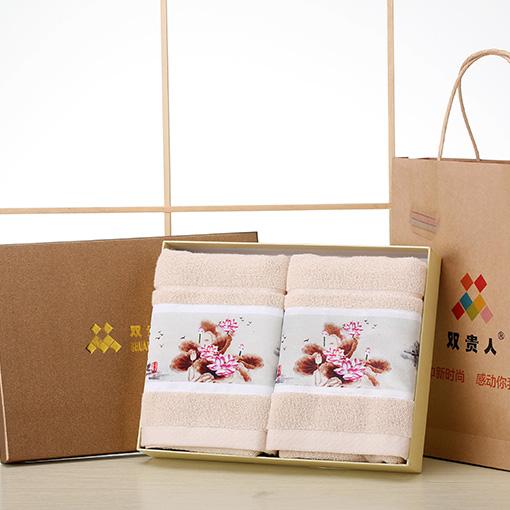 纯棉商务毛巾定制创意礼品毛巾礼盒两条装