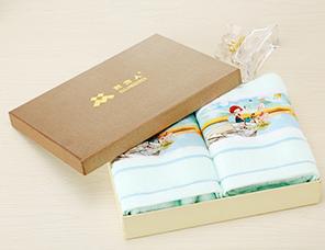 纯棉毛巾礼盒装企业福利创意礼品毛巾定制