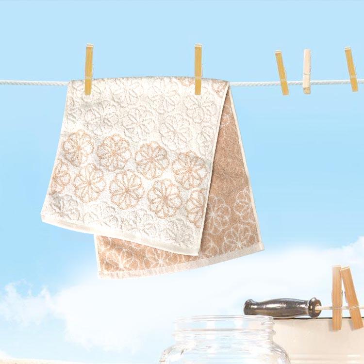 双贵人有机棉彩棉无捻提花毛巾新款预售