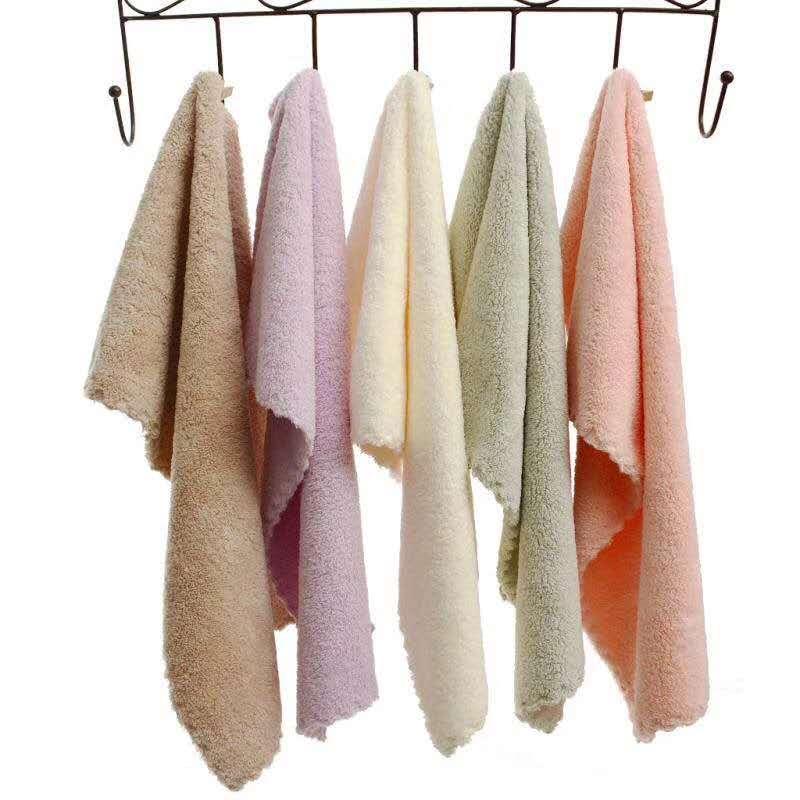 双贵人30*30高密珊瑚绒擦手巾4条装