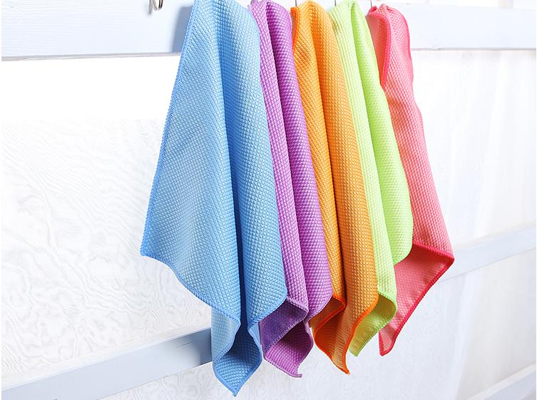 3P双面鱼鳞布擦玻璃毛巾厨房清洁洗碗巾